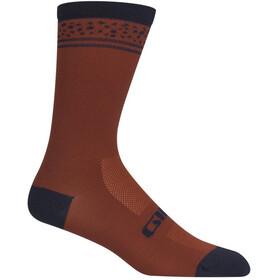 Giro Comp High Rise Socks dark red lines